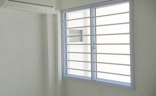bedroom horizontal grilles