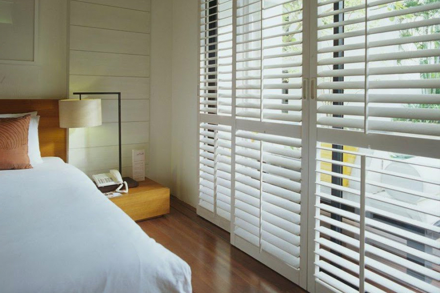 bedroom privacy shutters
